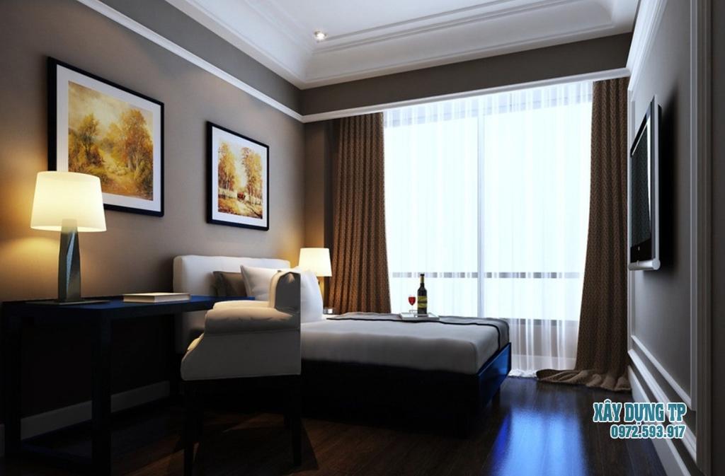 Hình 1: Mẫu trần thạch cao phòng ngủ vợ chồng trung niên