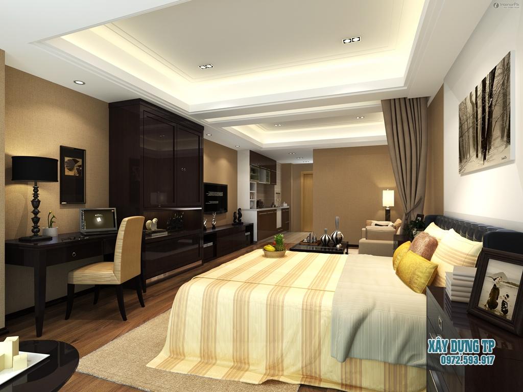 Hình 4: Thiết kế trần nhà đẹp cho phòng ngủ Master