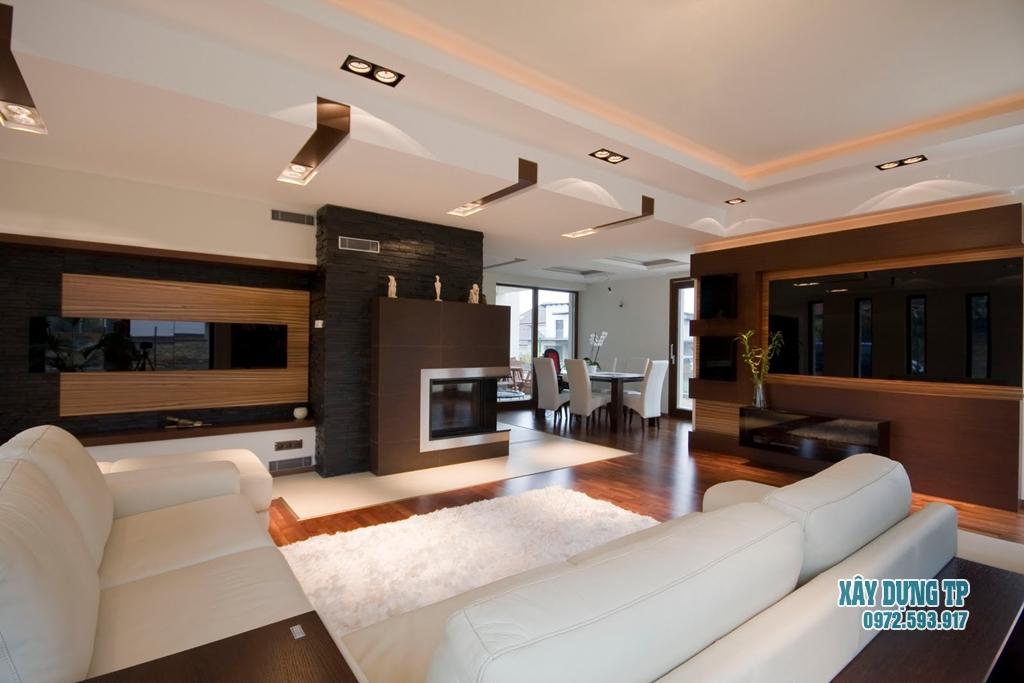 Mẫu trần thạch cao phòng khách 13