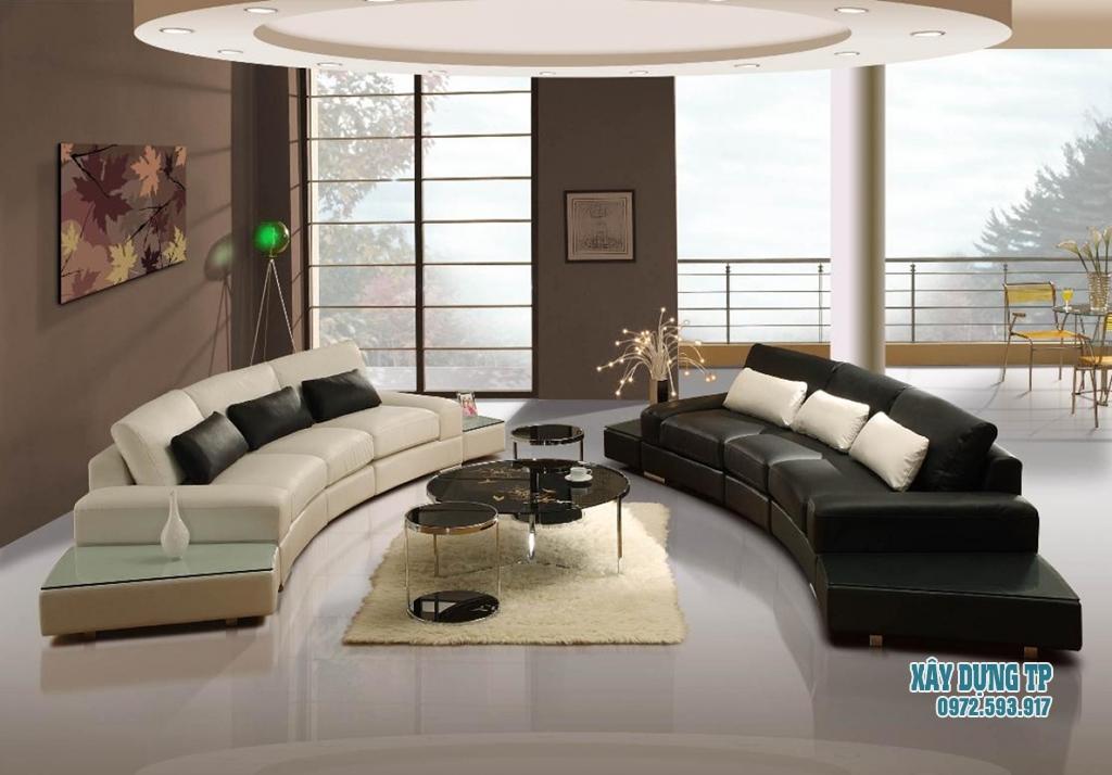 Mẫu trần thạch cao phòng khách hiện đại 2018. Ảnh 04