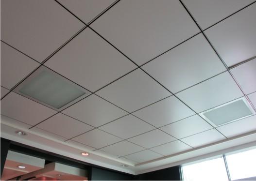 Trần nhôm thường sử dụng trong không gian thoáng như các văn phòng làm việc, sân ga, tiền sảnh