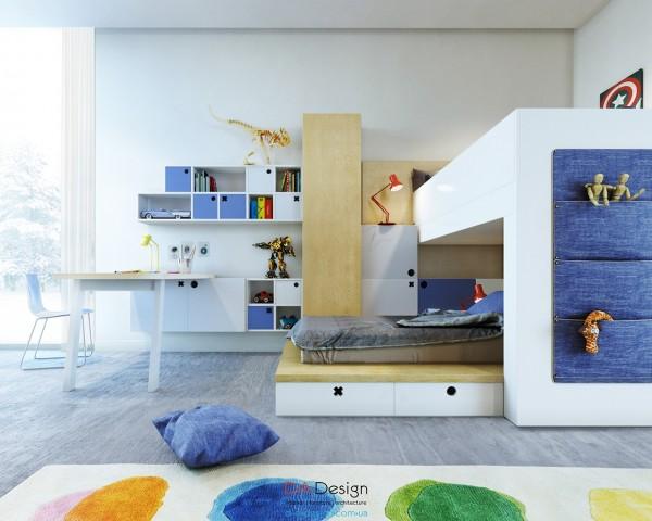 thiết kế nội thất phòng ngủ trẻ em 01