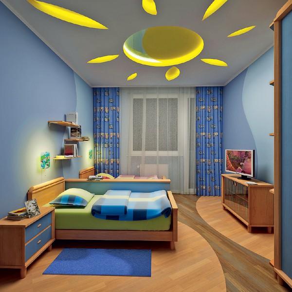 Những ý tưởng thiết kế trần thạch cao phòng ngủ trẻ em. Ảnh 1