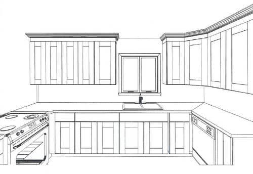 Phác thảo ý tưởng thiết kế và vị trí các khu vực trong phòng bếp