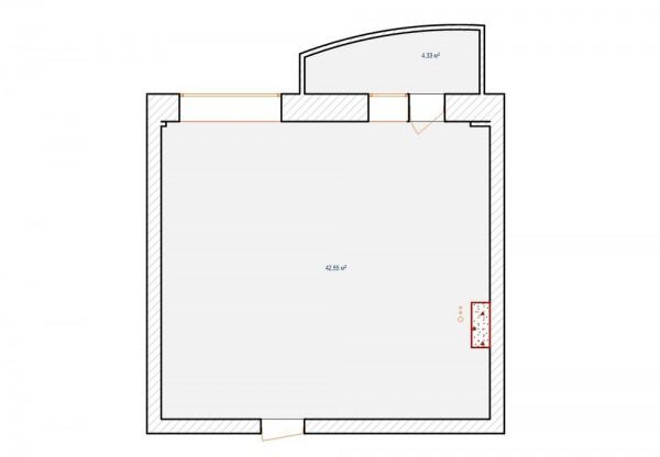Mặt bằng vị trí các phòng của căn hộ chung cư 50m2 -2