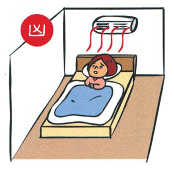 Air-con-is-directly-above-your-bed 14 điều cấm kỵ khi thiết kế phòng ngủ