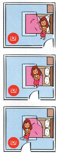 Bed-facing-the-room-door 14 điều cấm kỵ khi thiết kế phòng ngủ