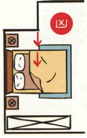 Bed-facing-wall-knives- 14 điều cấm kỵ khi thiết kế phòng ngủ