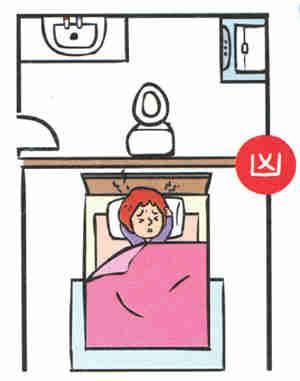 Head-facing-wall-behind-toilet-bowl 14 điều cấm kỵ khi thiết kế phòng ngủ