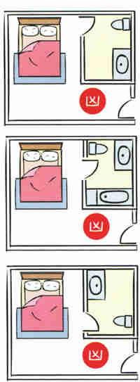 Toilet-door-facing-your-bed 14 điều cấm kỵ khi thiết kế phòng ngủ
