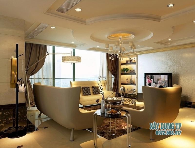 Các mẫu trần thạch cao phòng khách cổ điển đẹp từ năm 2015. Ảnh 11