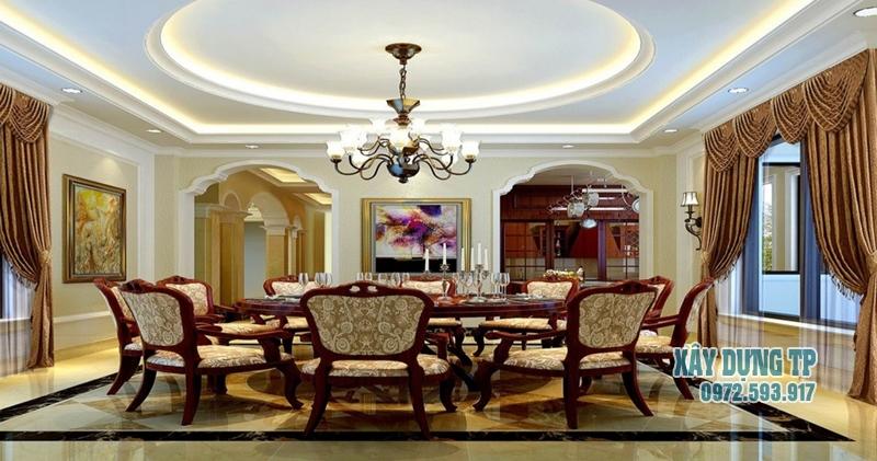 mau-tran-thach-cao-phong-khach-co-dien-12 Trần thạch cao phòng khách cổ điển