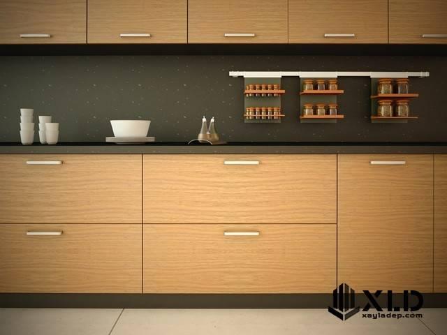 thiet-ke-tu-bep-go-veneer Một số lưu ý trong thiết kế tủ bếp hiện đại