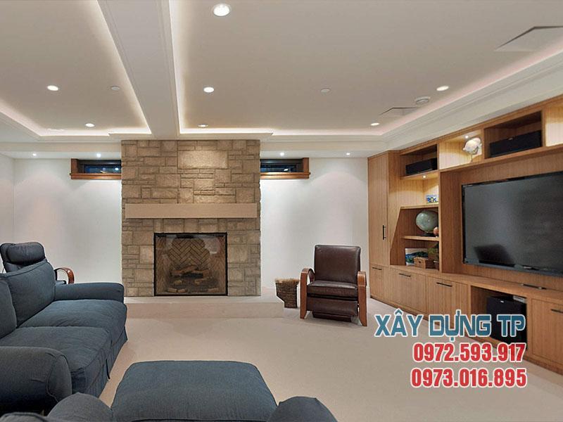 Mẫu 12: Trần thạch cao phòng khách hiện đại 2018
