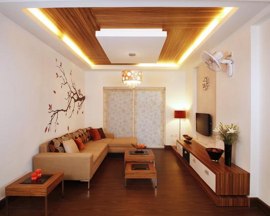 Hỏi kiến trúc sư: Cách phối màu sơn trần thạch cao đẹp cho căn hộ mau tran thach cao phong khach cuoi nam 2015 18