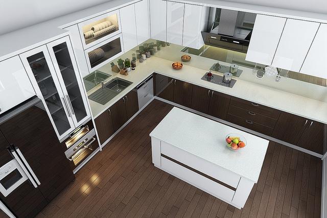 Thiết kế tủ bếp phù hợp với không gian đang được rất nhiều gia đình quan tâm. Ảnh KTS Hoàng Trần