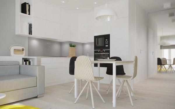 Căn chung cư thứ 3 được thiết kế bởi Karolina Krac dành cho một cặp vợ chồng và diện tích căn chung cư này cũng chỉ là 40m2.