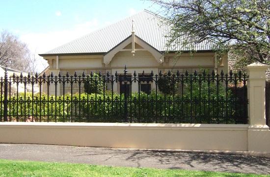 19. Mẫu tường rào sắt nhà cấp 4