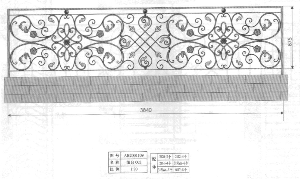 3. Mẫu hàng rào sắt đẹp dành cho nhà mới xây