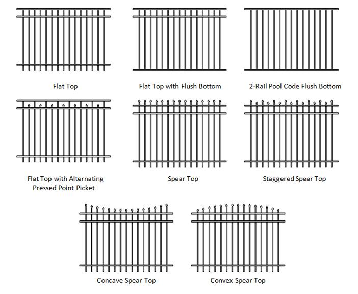 10. Hàng rào sắt đơn giản