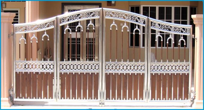 nhung-mau-cong-sat-dep-1 Các mẫu cổng sắt đẹp cho việc xây nhà mới
