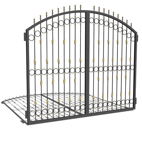 nhung-mau-cong-sat-dep-15 Các mẫu cổng sắt đẹp cho việc xây nhà mới