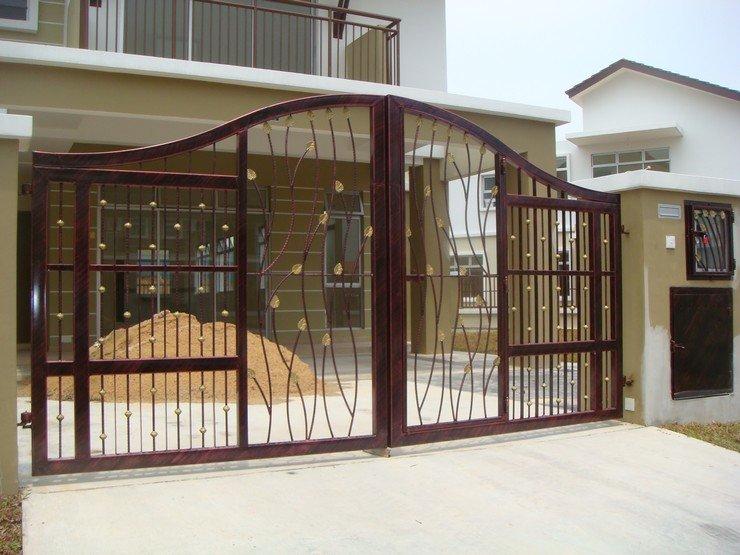 nhung-mau-cong-sat-dep-18 Các mẫu cổng sắt đẹp cho việc xây nhà mới