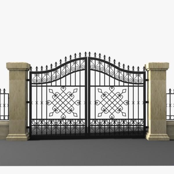 nhung-mau-cong-sat-dep-3 Các mẫu cổng sắt đẹp cho việc xây nhà mới