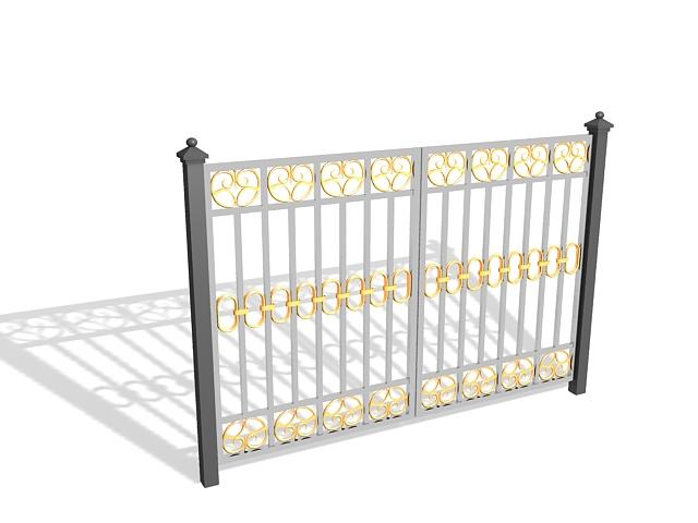 nhung-mau-cong-sat-dep-4 Các mẫu cổng sắt đẹp cho việc xây nhà mới