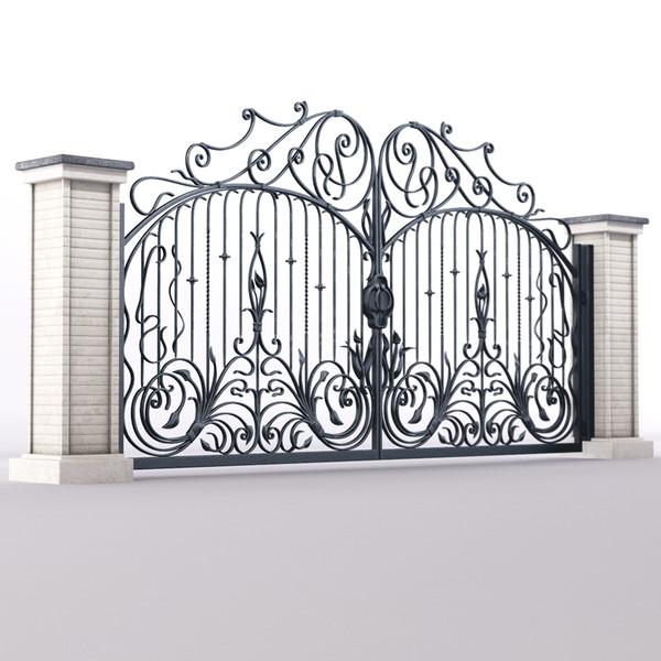 nhung-mau-cong-sat-dep-7 Các mẫu cổng sắt đẹp cho việc xây nhà mới