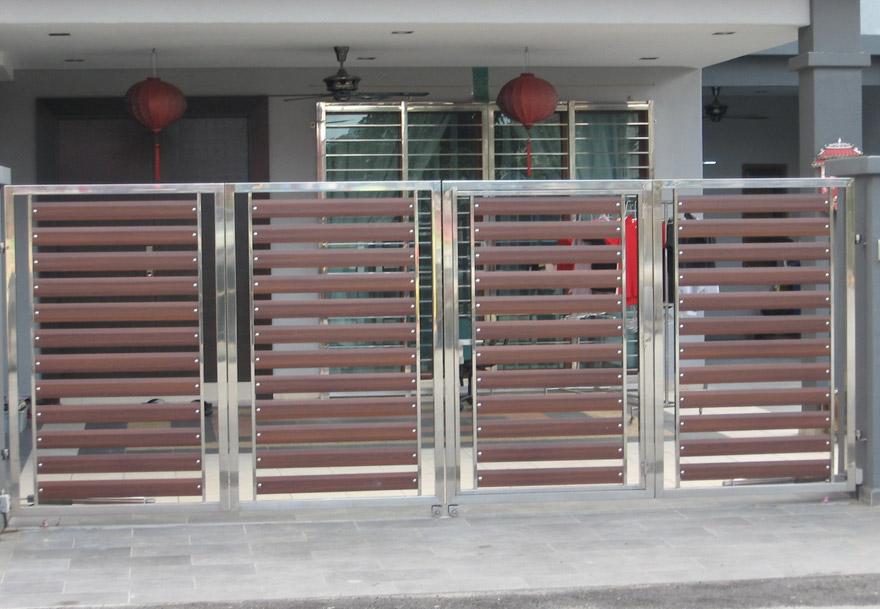 nhung-mau-cong-sat-dep-9 Các mẫu cổng sắt đẹp cho việc xây nhà mới