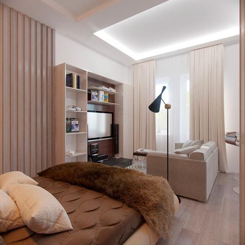 Mẫu thiết kế nội thất chung cư 30m2 phong cách Bắc Âu. Ảnh 4