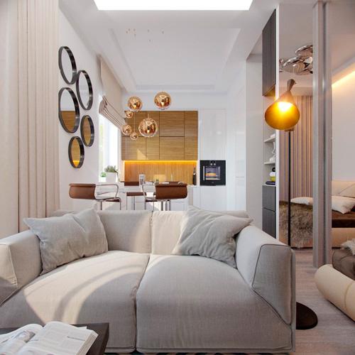 Mẫu thiết kế nội thất chung cư 30m2 phong cách Bắc Âu. Ảnh 5