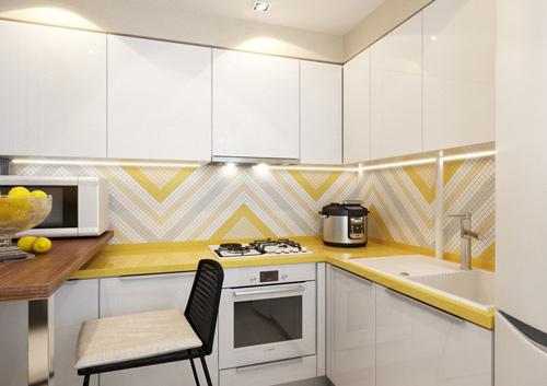 Thiết kế căn hộ 30m2 tươi sáng và màu sắc. Ảnh 5