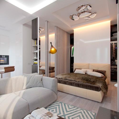 Mẫu thiết kế nội thất chung cư 30m2 phong cách Bắc Âu