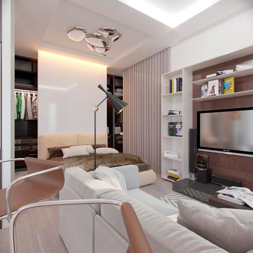 Mẫu thiết kế nội thất chung cư 30m2 phong cách Bắc Âu. Ảnh 2