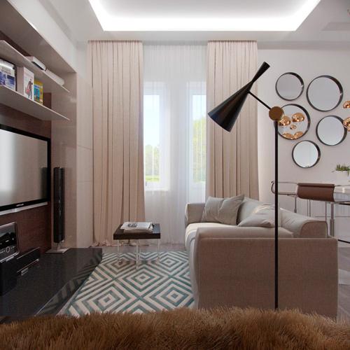 Mẫu thiết kế nội thất chung cư 30m2 phong cách Bắc Âu. Ảnh 3