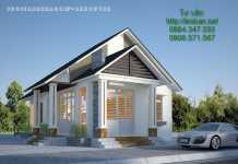 nhà cấp 4, Bản thiết kế mẫu nhà cấp 4 đẹp 1 tầng diện tích 11,5m x 20,5 m, Nhà đẹp, Nhà đẹp