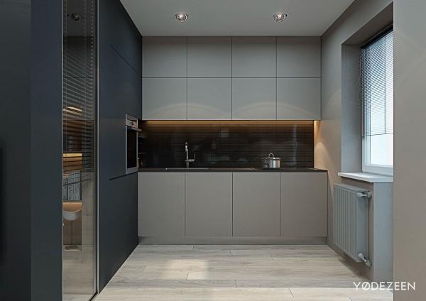 Thiết kế phòng bếp của căn hộ chung cư 70m2