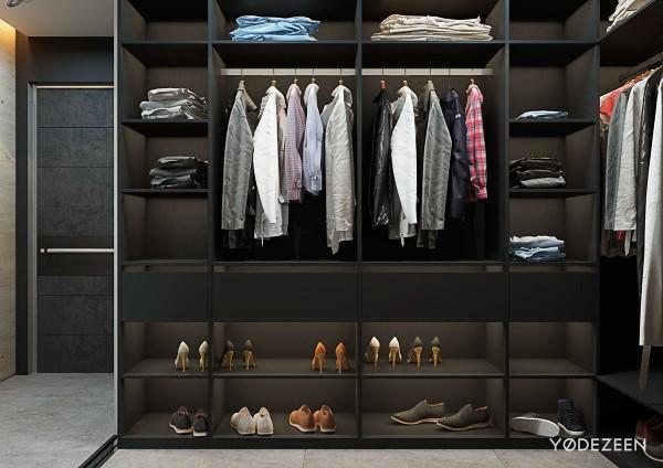 Việc có kết cấu nội thất thông minh giúp cho chiếc tủ trở nên rộng rãi hơn.