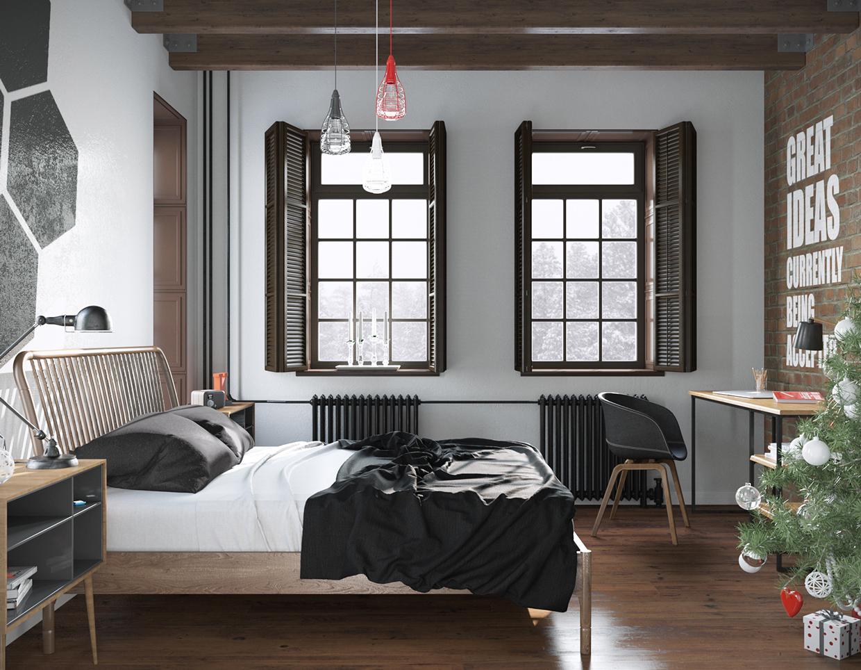 Khung giường, chắn rường hay cách cảnh cửa và các đồ nội thất đơn giản là mang lại sự quyến rũ của nét thiết kế cổ điển truyền thống.