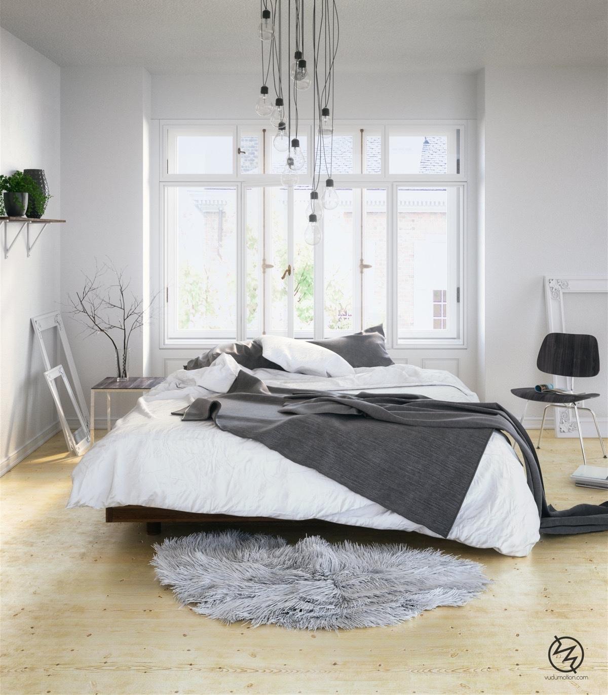 Thiết kế nội thất phòng ngủ phong cách scandinavian – P2