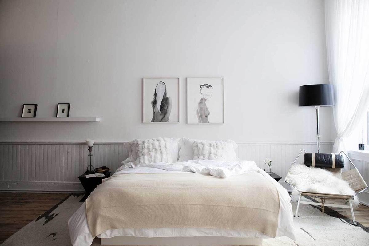 Duyên dáng, dịu dàng trong scandinavian được thể hiện rõ ràng trong phòng ngủ này