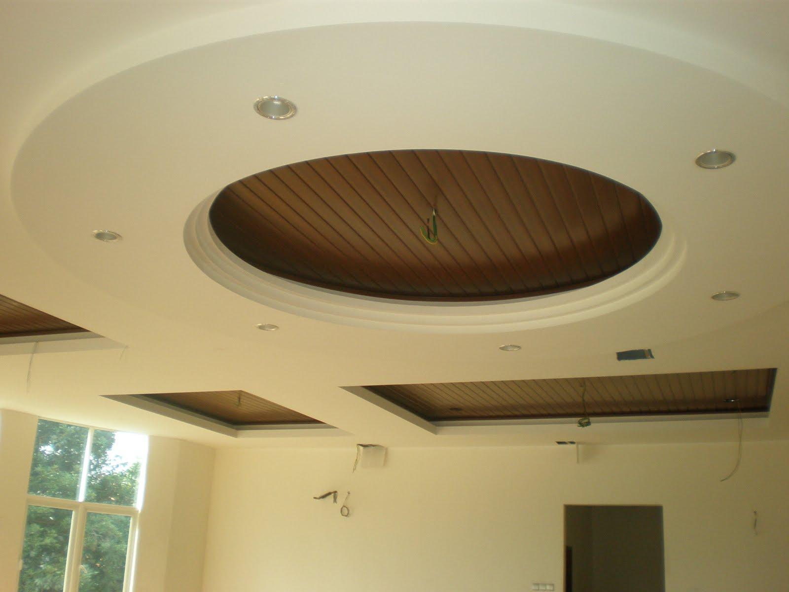20. Sự kết hợp hoàn hảo giữa trần thạch cao và trần gỗ