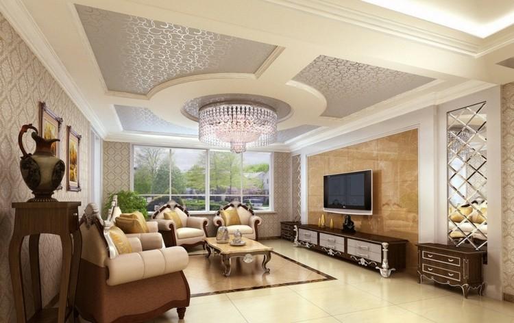 8. Thiết kế trần thạch cao theo phong cách tân cổ điển