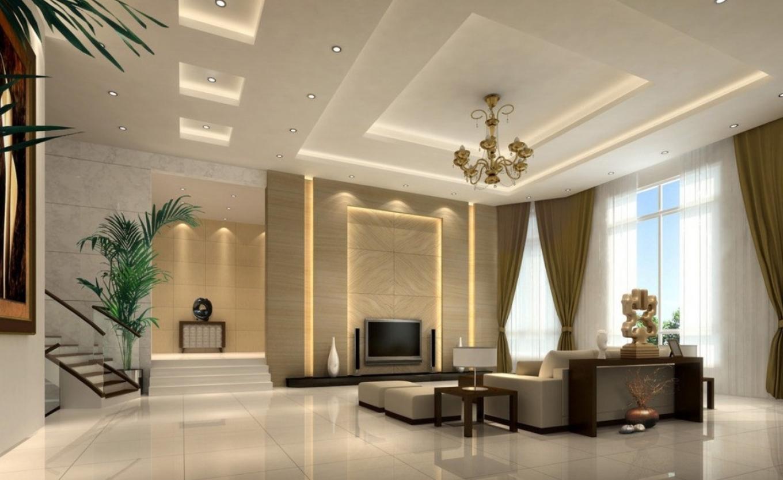 15. Mẫu trần nhà phòng khách đẹp