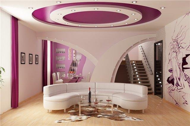 26-mau-tran-thach-cao-phong-khach-2016-16 Vẻ đẹp của 26 mẫu trần thạch cao phòng khách phong cách Nga