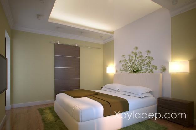 Mẫu 01 | Mẫu trần thạc cao phòng ngủ giật cấp đơn giản
