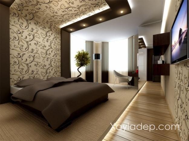trần thạch cao phòng ngủ, 36 Mẫu trần thạch cao phòng ngủ mới nhất 2018, Nhà đẹp
