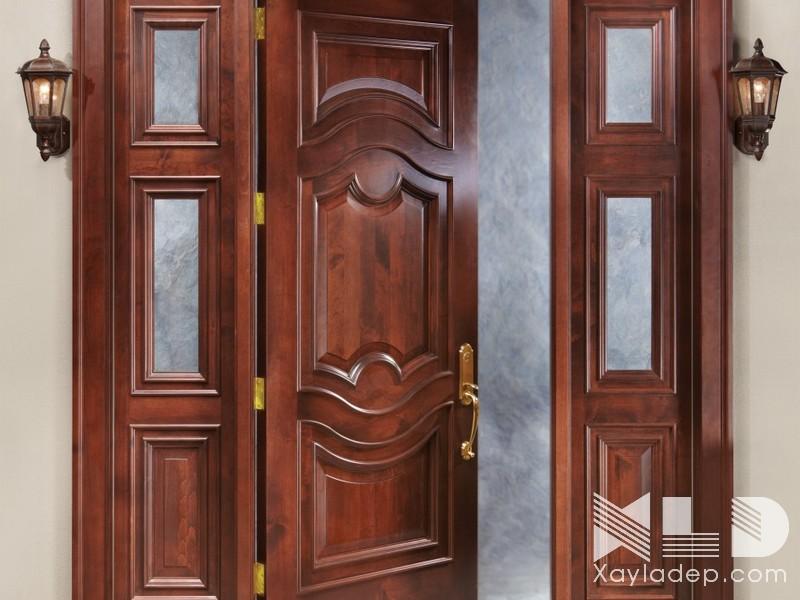 Cửa chính nên chọn các loại gỗ tốt để đảm bảo an toàn và chống chọi lại với thời tiết